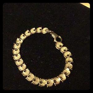 14k Gorgeous Fancy Link Bracelet, Vintage